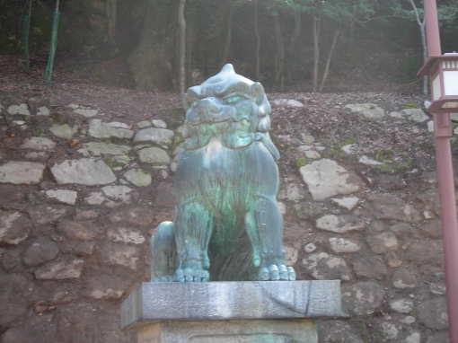 Statue, Miyajimaguchi, 3/4/2009